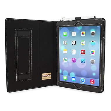 Snugg B00EYDTA3W Polyurethane Leather Folio Case Cover and Flip Stand for Apple iPad Air/iPad 5, Black