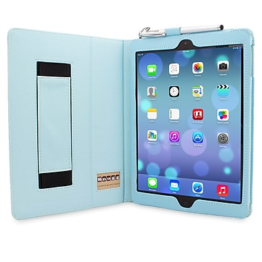 Snugg B00HA5MPME Polyurethane Leather Folio Case Cover and Flip Stand for Apple iPad Air/iPad 5, Baby Blue