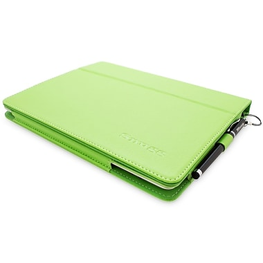 Snugg B00FFY8U4Y Polyurethane Leather Folio Case and Flip Stand for Apple iPad 2, Green
