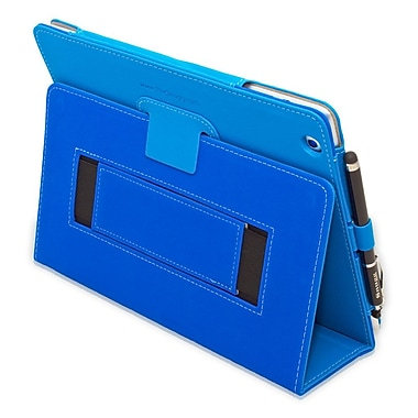 Snugg B008X1GQFG Polyurethane Leather Folio Case and Flip Stand for Apple iPad 2, Blue