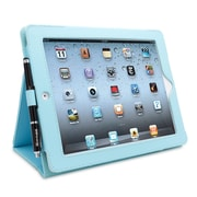 Snugg B008X1JAIQ Polyurethane Leather Folio Case and Flip Stand for Apple iPad 2, Baby Blue