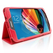 "Snugg B00EQ3JHRO Polyurethane Leather Folio Case Cover and Flip Stand for 8"" Samsung Galaxy Tab 3, Red"