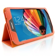 "Snugg B00EQ3CSAC Polyurethane Leather Folio Case Cover and Flip Stand for 8"" Samsung Galaxy Tab 3, Orange"