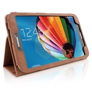 "Snugg B00EQ3AP3O Polyurethane Leather Folio Case Cover and Flip Stand for 8"" Samsung Galaxy Tab 3, Distressed Brown"