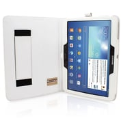"Snugg B00EQ7769Q Polyurethane Leather Folio Case Cover and Flip Stand for 10.1"" Samsung Galaxy Tab 3, White"