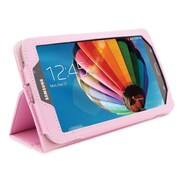 "Snugg B00EPDZXUK Polyurethane Leather Folio Case Cover and Flip Stand for 7"" Samsung Galaxy Tab 3, Candy Pink"