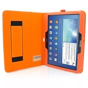 "Snugg B00EQ6QYK4 Polyurethane Leather Folio Case Cover and Flip Stand for 10.1"" Samsung Galaxy Tab 3, Orange"