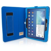 "Snugg B00EQ6786S Polyurethane Leather Folio Case Cover and Flip Stand for 10.1"" Samsung Galaxy Tab 3, Electric Blue"