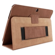 "Snugg B00EQ611IY Polyurethane Leather Folio Case Cover and Flip Stand for 10.1"" Samsung Galaxy Tab 3, Distressed Brown"