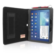 "Snugg B00E3C4A7K Polyurethane Leather Folio Case Cover and Flip Stand for 10.1"" Samsung Galaxy Tab 3, Black"