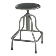 "Safco Diesel 27"" High Base Stool without Back, Pewter (6665)"