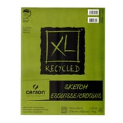 Canson XL Recycled Sketch Pads 11 in. x 14 in. pad of 100 sheets fold-over [Pack of 3]
