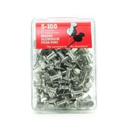 Moore Push Pins 5/8 in. aluminum pack of 100 [Pack of 2]