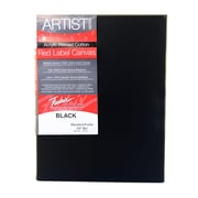 Fredrix Red Label Black Stretched Cotton Canvas 18 In. X 24 In. Each [Pack Of 2] (2PK-50239)