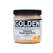 Golden OPEN Acrylic Colors Iridescent Gold (fine) 8 oz. Jar (59784)