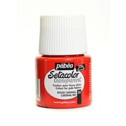 Pebeo Setacolor Transparent Fabric Paint cardinal red 45 ml [Pack of 3]
