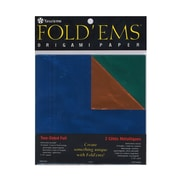"Yasutomo Fold'ems Origami Paper Two-Sided, Foil/Solid, 5 7/8"", 3/Pack (36570-PK3)"