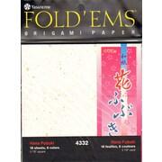 Yasutomo Fold'ems Origami Paper hana fubuki: 6 colors 5 7/8 in. pack of 18 [Pack of 2]