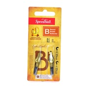 Speedball Round Pen Nibs B-1, B-2 pack of 2 [Pack of 6]