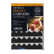 Lineco 32086-PK2 Black Infinity Paper Photo Corners Pack of 252, 2/Pack