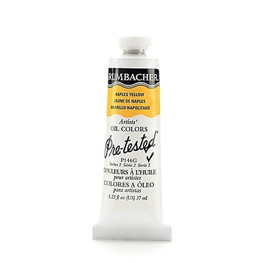 Grumbacher pre tested oil paint naples yellow hue p146 1 for Oil paint colors names