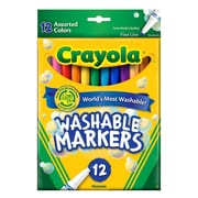 Crayola Washable Markers -- Assorted Colors fine line  [Pack of 3]