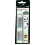 Faber Castell Dust Free Vinyl Erasers, Pack of 2, 12/Pack (87166 PK12) by