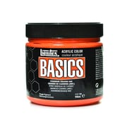 Liquitex Basics Acrylics Colors, Cadmium Orange Hue, 32oz Jar (79548)