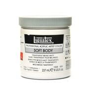 Liquitex Soft Body Professional Artist Acrylic Colors transparent mixing white 8 oz.