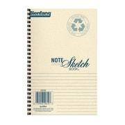 Bienfang Note Sketch Book horizontal format 8 in. x 5 1/2 in. [Pack of 3]