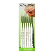 Silver Brush Ultra Mini Brush Sets, Set of 6 Precision Detail Painting Set (27913)