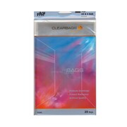 ClearBags IMPACT Translucent Colored Plastic Envelopes 4 15/16 in. x 6 9/16 in. clear pack of 25 [Pack of 4]