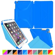 rOOCASE Origami Polyurethane 3D Slim Shell Folio Smart Case Cover for iPad Mini 3/2/1, Pacific Blue/Barbados Blue