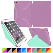 rOOCASE Origami Polyurethane 3D Slim Shell Folio Smart Case Cover for iPad Mini 3/2/1, Radiant Orchid/Mint Candy