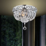CrystalWorld 3 Light Flush Mount; 8'' H x 10'' W x 10'' D