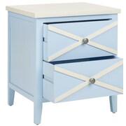 Safavieh Sherrilyn End Table; Light Blue / White