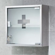 Gedy by Nameeks Joker 11.8'' x 11.8'' Surface Wall Mounted Medicine Cabinet