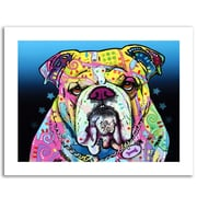 Trademark Fine Art Dean Russo 'The Bulldog' Paper Art 18 x 24 (ALI0244-1824-P)