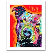 Trademark Fine Art Dean Russo 'Thoughtful Pitbull' Paper Art 18 x 24 (ALI0246-1824-P)