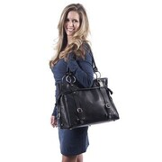 Claire Chase Catalina Computer Tote Bag; Black