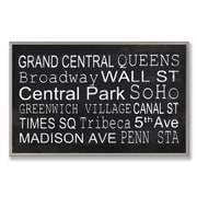 Stupell Industries NYC Subway Train Station Stops Textual art Plaque