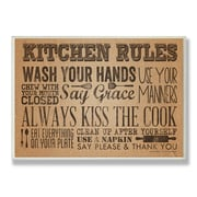 Stupell Industries Paper Towel-Look Kitchen Rules Textual Art Wall Plaque