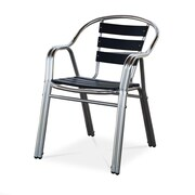 Source Contract Milano Arm Dining Chair; Black