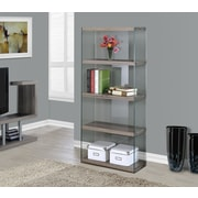 Monarch Specialties Inc. Tempered Glass 60'' Standard Bookcase