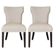 Sole Designs Kasumi Chain Wingback Cotton Side Chair (Set of 2)