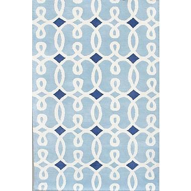Chandra Davin Blue Geometric Rug; 5' x 7'