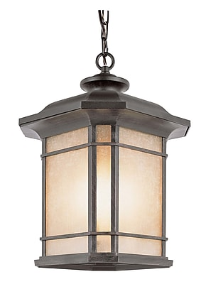 TransGlobe Lighting Corner Windows 3-Light Outdoor Hanging Lantern; Black WYF078275800588