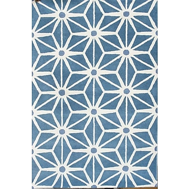 Chandra Davin Blue Area Rug; 5' x 7'