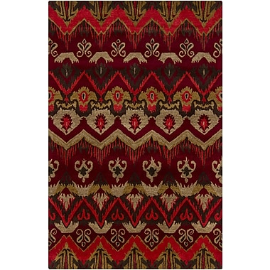 Chandra Rupec Red Abstract Area Rug; 7'9'' x 10'6''