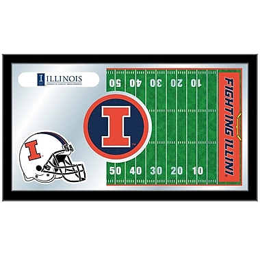 Holland Bar Stool NCAA Football Mirror Framed Graphic Art; Illinois